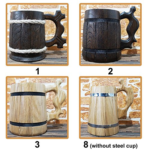 Alliance Beer Mug, Warcraft Gifts, World of Warcraft Wooden Beer Mug, Alliance Groomsmen Gift, WOW Beer Stein, Gamer Gift, WOW Tankard, Gift for Men, Gift for Him by WildMugs (Image #6)'