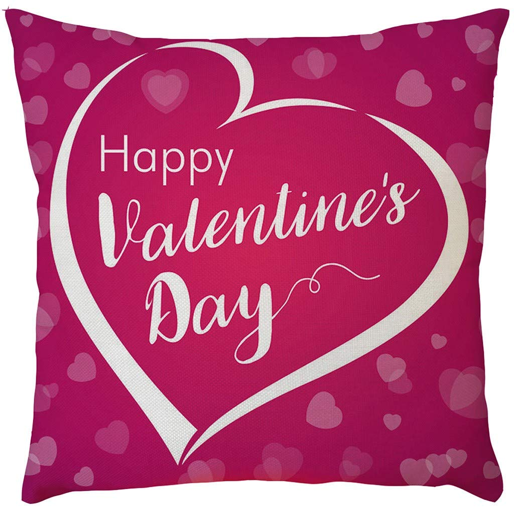 2019,EOWEO Happy Mother's Day Sofa Bed Home Decoration Festival Pillow Case Cushion Cover(43cm×43cm,I)