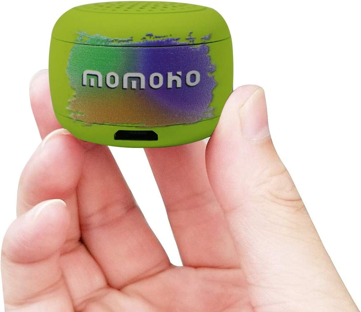 Momoho Mini Bluetooth Speaker - Small Size but Great Sound Quality,Photo Selfie Button & Answer Phone Calls,BTS0011 (Green)