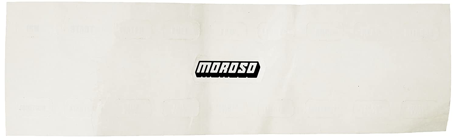 Moroso 97542 Switch Panel Label Decal