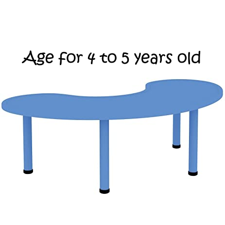 Nice 2xhome U2013 Blue U2013 Kids Table U2013 Height Adjustable 21.75 Inches To 22.75 Inches    Half