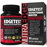 Testosterone Supplement for Men by NutraEdge (90 Caplets) – Natural Stamina, Endurance and Strength Booster – Fortifies Metabolism – Promotes Healthy Muscle Growth