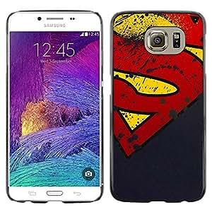 Samsung Galaxy S6 / SM-G920 , Radio-Star - Cáscara Funda Case Caso De Plástico (Grunge S Superhero)