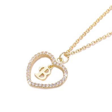 holyfast charm necklace message card one in a million letter b necklace initial necklace heart love