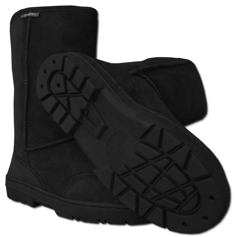Stivali pelle di pecora AGI nero-