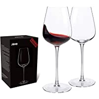 Hand Blown Italian Style Crystal Bordeaux Wine Glasses - Perfect Holiday Gift - Red Wine Glasses Lead Free Premium…