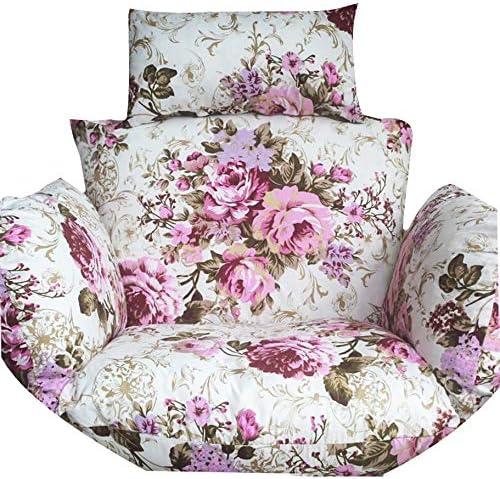 Seat Cushion Colgante Huevo Hamaca Silla Cojines, Espesado Forma De Nido Silla Colgante De Algodón con Mini Sofá Almohada para El Hogar del Jardín-v 60x50x58cm(24x20x23inch)