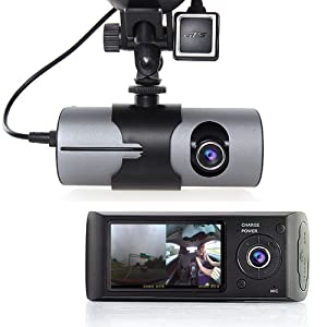 "Indigi 2.7"" TFT LCD HD Dash-Cam DualCam Car DVR w/GPS Tracker + Google Maps + G-Sensor"