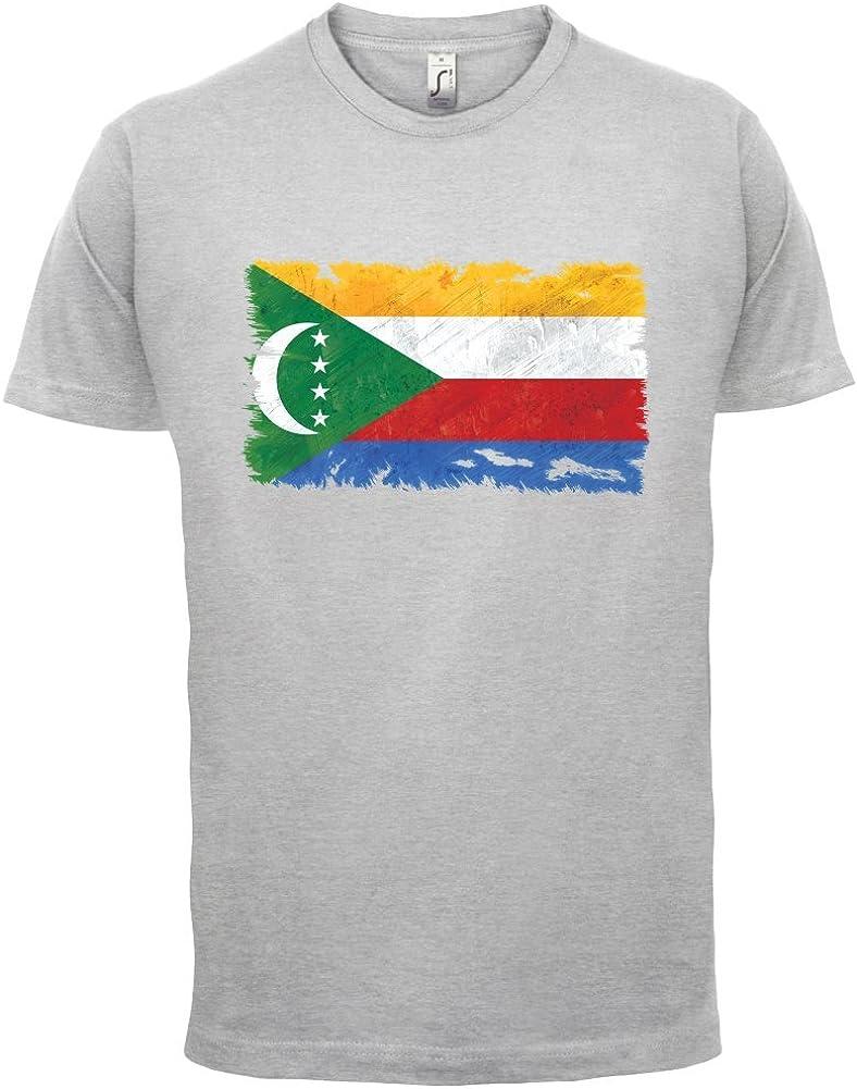 Dressdown COMORAS Grunge Estilo Bandera - Camiseta Hombre - 13 Colores - Ceniza, XXX-Large: Amazon.es: Ropa y accesorios