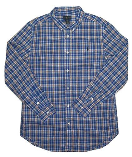 Ralph Lauren Boy's Childrenswear 8-20 Classic Plaid Sport Shirt, X-Large Blue