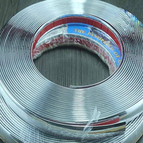 Decoraci/ón exterior de 18 mm con moldura cromada Etiqueta engomada del coche Tira exterior Cloverclover