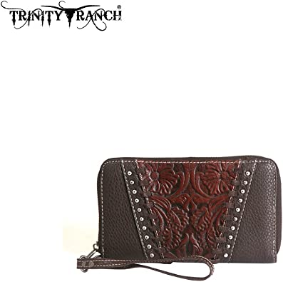 Montana West Trinity Ranch Tooled Collection Wallet//Wristlet