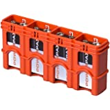 Storacell by Powerpax SlimLine 9V Battery Caddy, Orange, Holds 4 Batteries