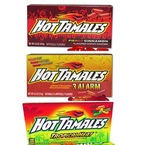hot tamales cinnamon candy variety 3 pack   3 alarm mix
