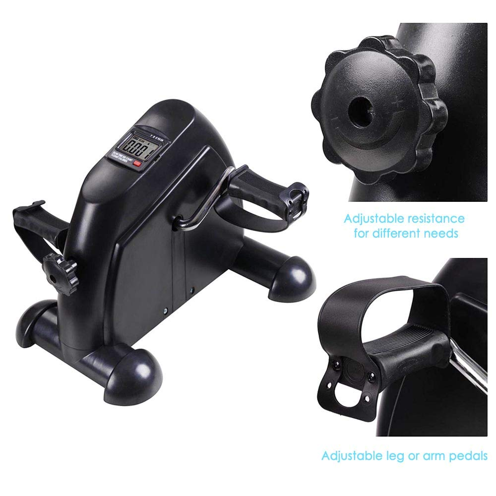 AW Indoor Exercise Bike Resistance Adjustable Mini Pedal Exerciser w/LCD Display by AW (Image #4)