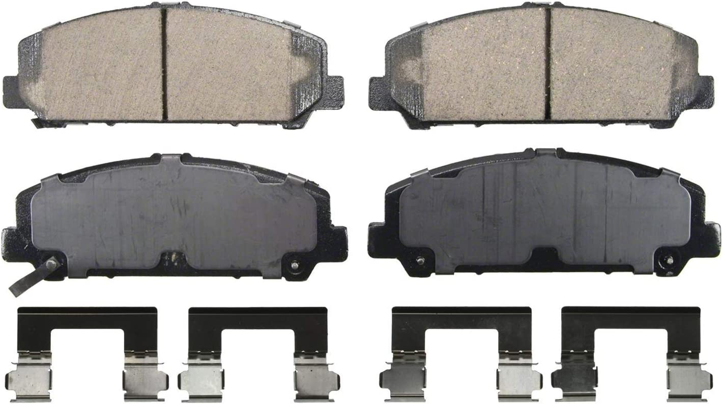 CKD Premium Ceramic Brake Pad Set fits Rear 2015 Mercedes-Benz C350 Hardware Kit Included