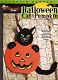 Plastic Canvas Halloween Cat & Pumpkin