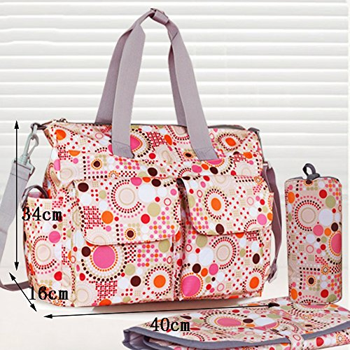 Global- 40 * 16 * 34cm versión coreana mujeres embarazadas Saliendo mochila, tela impermeable de gran capacidad paquete de la momia, de la manera extraña de viaje esencial multifunción mochila ( Color # 2