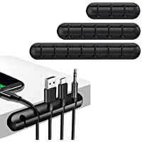 Cable Management, T Tersely 3 Pack Cable Clips Cord Management Cable Organiser, Silicone Adhesive Wire Holder for Power…