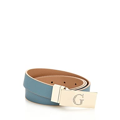 7a01e0699111 Guess Ceinture Reversible Femme Digital Bleu Marron  Amazon.fr ...