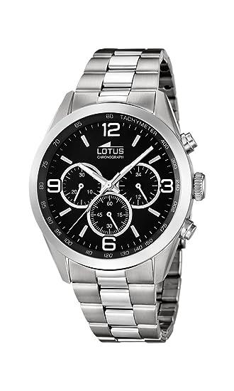 Lotus 18152/2 - Reloj de Pulsera Hombre, Acero Inoxidable, Color Plateado: Amazon.es: Relojes
