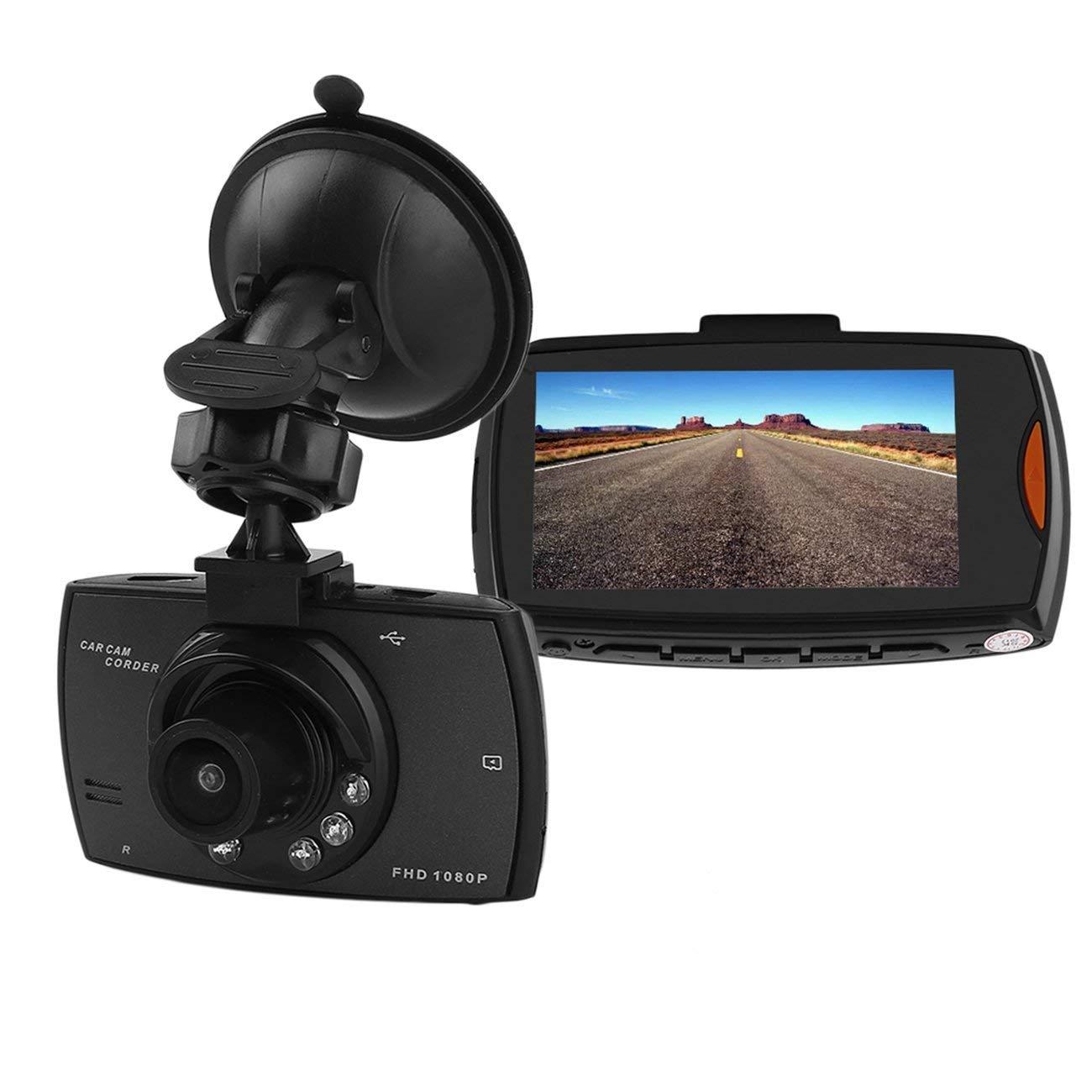 Peanutato 1080P 2.7TFT LCD Telecamera per Auto Full HD Dash Cam Crash DVR Videoregistratore Digitale Videocamera per Visione Notturna Attrezzatura per Auto