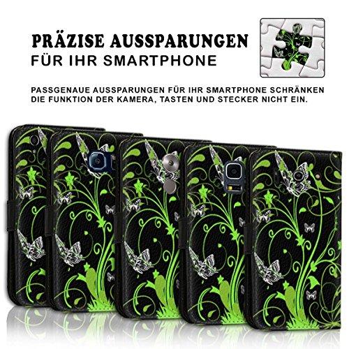Wallet Book Style Flip Handy Tasche Case Schutz Hülle Schale Motiv Etui für Apple iPhone 6 Plus / 6S Plus - Design Flip MV160
