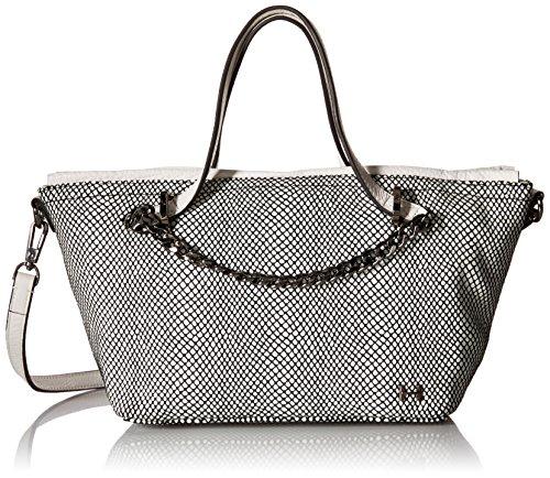 Halston Heritage Small Satchel Handbag - White/Black - On...