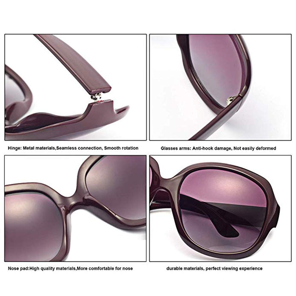 Sunglasses for Ladies Classic Plastic Sunglasses for Protecting Sensitive Eyes