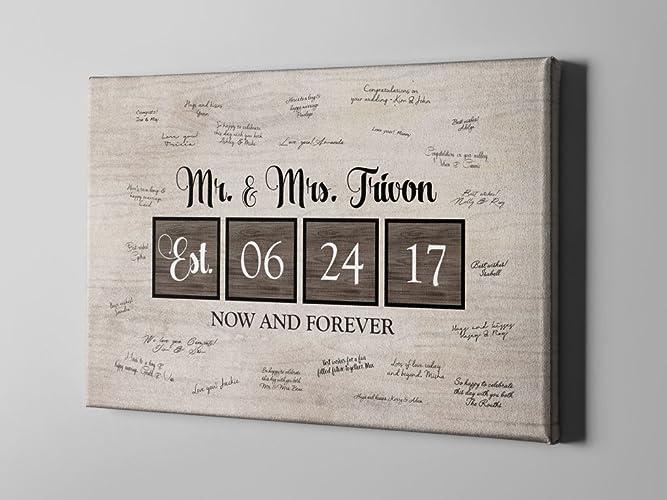 Amazon.com: SALE 50% Off Canvas Guest Book, Wedding Mr. & Mrs. Guest ...