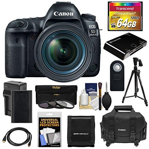 Canon EOS 5D Mark IV 4K Wi-Fi Digital SLR Camera & EF 24-70m
