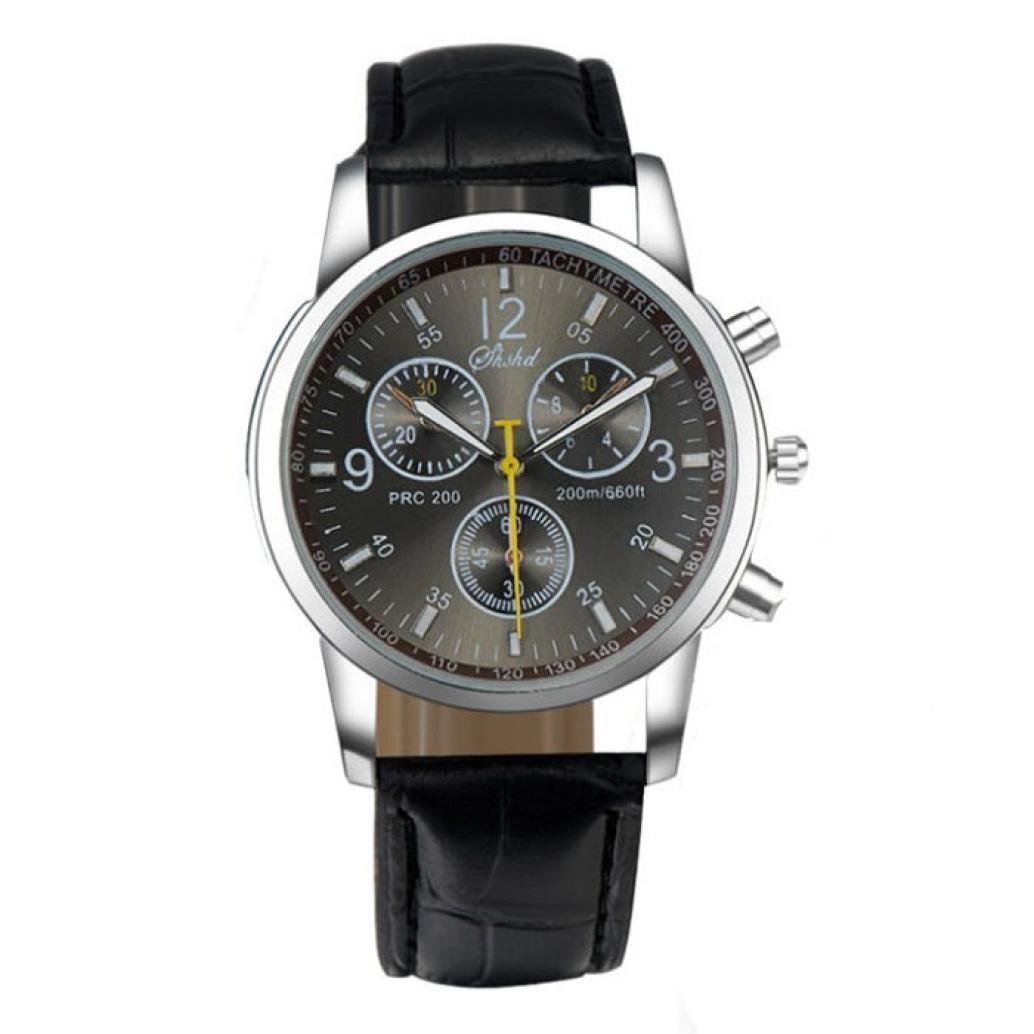 Hemlock New Stylish Men's Round Watches Crocodile Band Watch