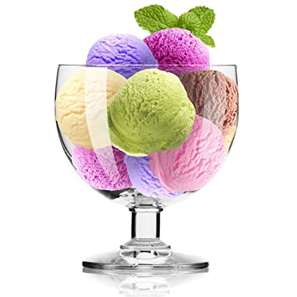 buy krosno europe non lead crystal clear glass simple ice cream