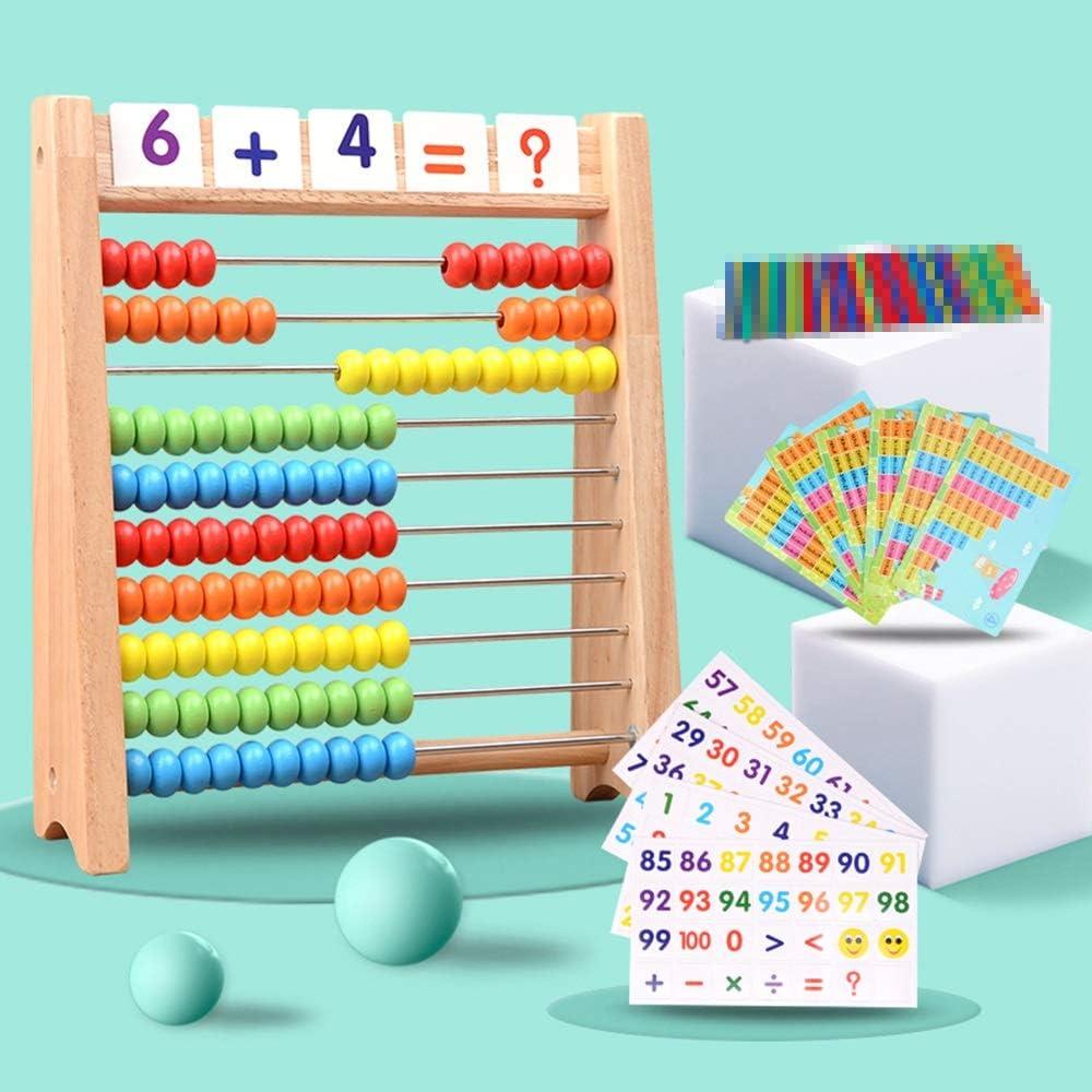 SHJBZ Material didáctico aritmético for niños Ábaco Ábaco, Contador de Suma y resta Marco de cálculo Tres en uno + Boca + Tarjeta + Tarjeta Digital: Amazon.es: Hogar