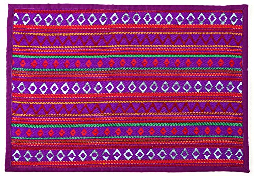 HOLIDAY SALE - Place Mats, Inspired By Peruvian Textile, Purple (Set of (Inspired Placemat)