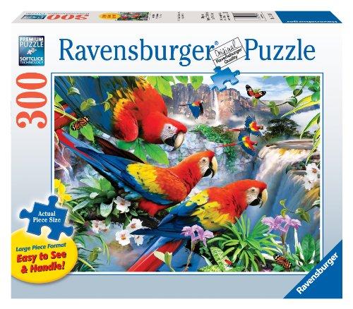 Tropical Birds - 300 Pieces Large Format Puzzle