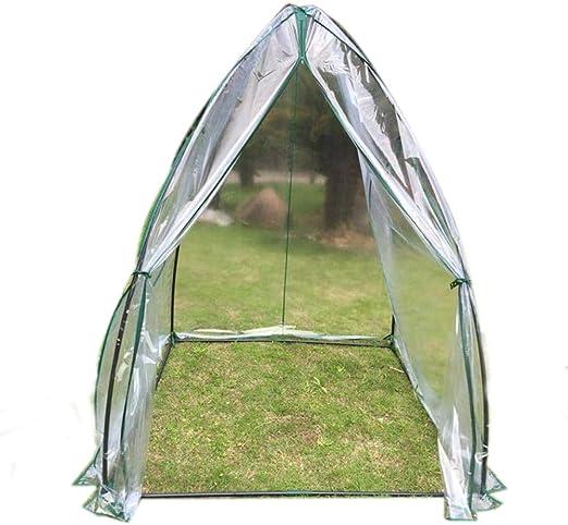 Invernaderos Plastico huerto terraza Mini Transparente - Pequeña casa de jardín Transparente, Ideal para propagar Semillas y Plantas de Cultivo, 140 × 140 × 180 cm: Amazon.es: Hogar