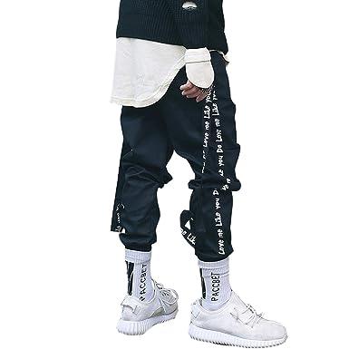 premium selection f594f 54003 Amazon.com: Mens Pants 2018 New Streetwear Fashion Casual ...