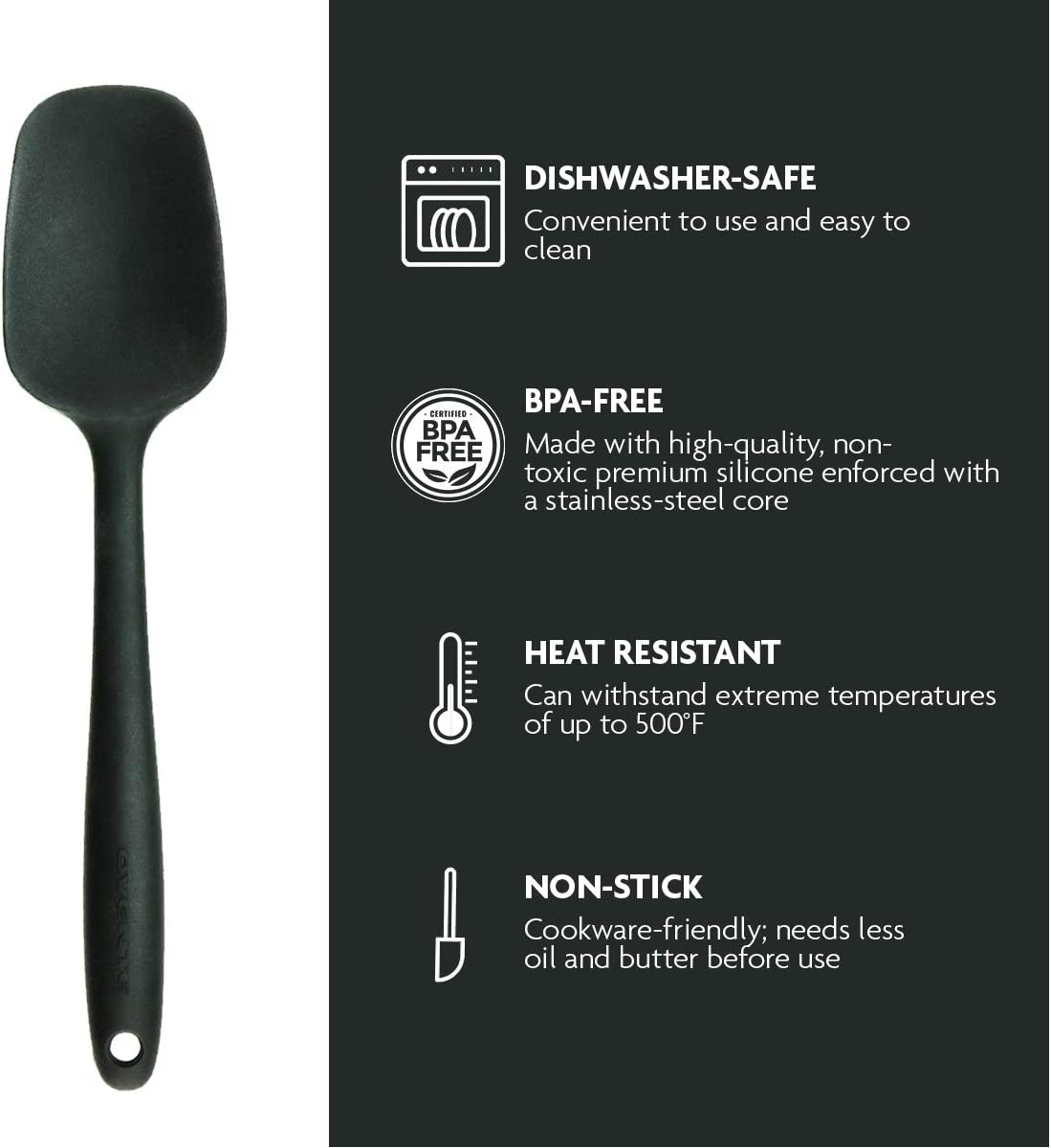 2 Pieces Silicone Spatula with Stainless Steel Core Perfect for Gift or Making Desserts Ovente 3 in 1 Limited Bundle Set with Electric Hand Mixer with 5 Speed Mixing Power and Snap-On Storage Case