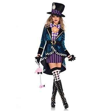 delightful mad hatter costume small dress size 4 6