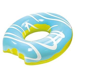 Mega Donut Azul flotador (flotador (Infla 119 cm diámetro aprox. 46 cm, PVC Pantalla aprox. 0,20 mm Super schwimms Pass Niños Diversión: Amazon.es: Juguetes ...