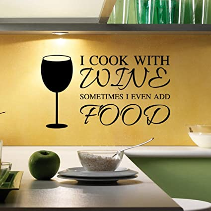 Amazon.com: Oksale® Kitchen Utensils Cutlery Wine Wall Stickers ...