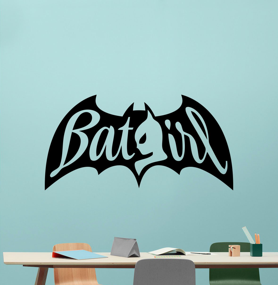Amazon.com: Batgirl Wall Decal Marvel Batman Comics Superhero Vinyl Sticker  Wall Decor Cool Wall Art Kids Teen Girl Room Wall Design Modern Bedroom Wall  ...