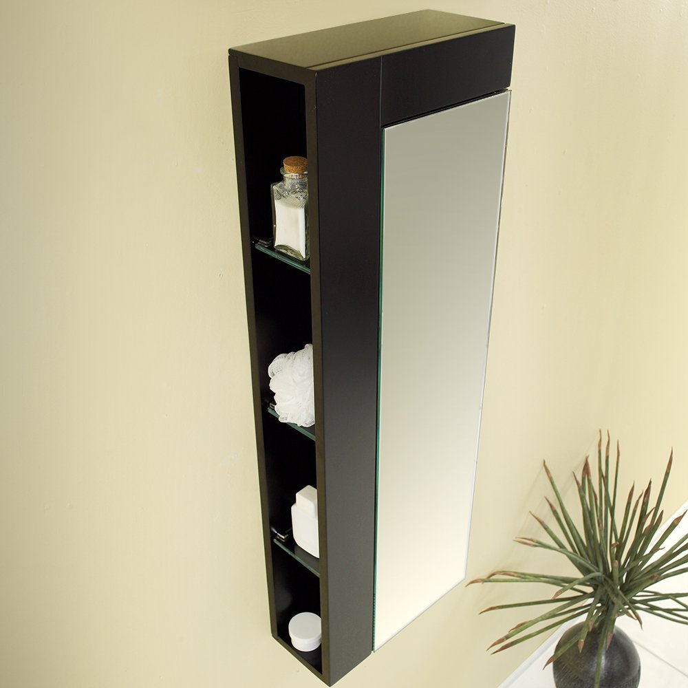 Amazon.com Fresca Bath FST1024ES Bathroom Linen Side Cabinet with Large Mirror Door Espresso Kitchen u0026 Dining : corner cabinet espresso - Cheerinfomania.Com