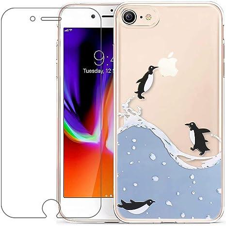 coque iphone 8 pingouin