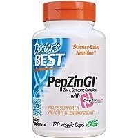 Doctor's Best Zinc Carnosine Complex with PepZin GI, Non-GMO, Vegan, Gluten Free, Soy Free, Digestive Support, 120…