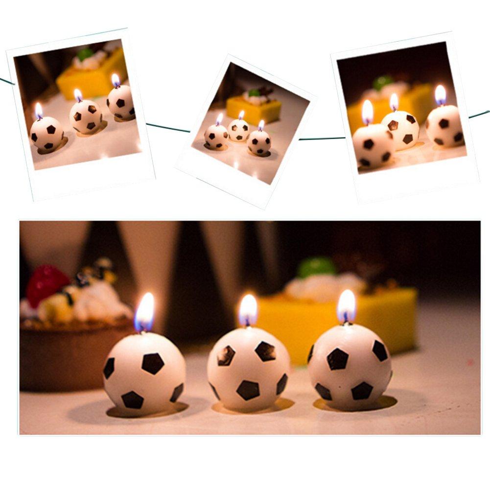 Amazon.com: unetox balón de fútbol velas tarta de cumpleaños ...