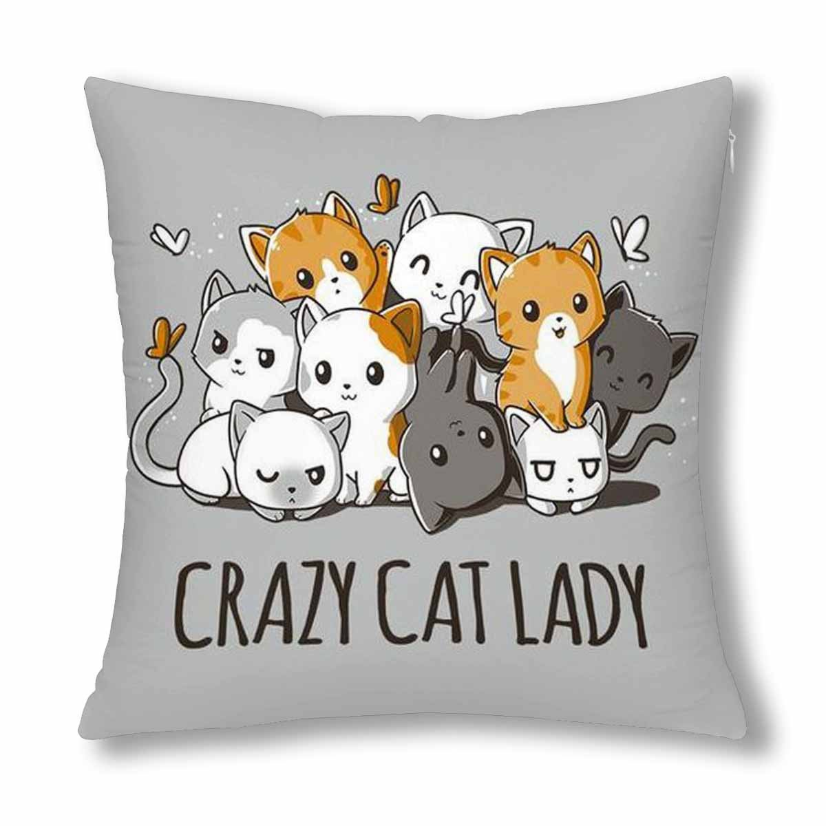 interestprint Crazy Cat Ladyクッションカバー18 新登場