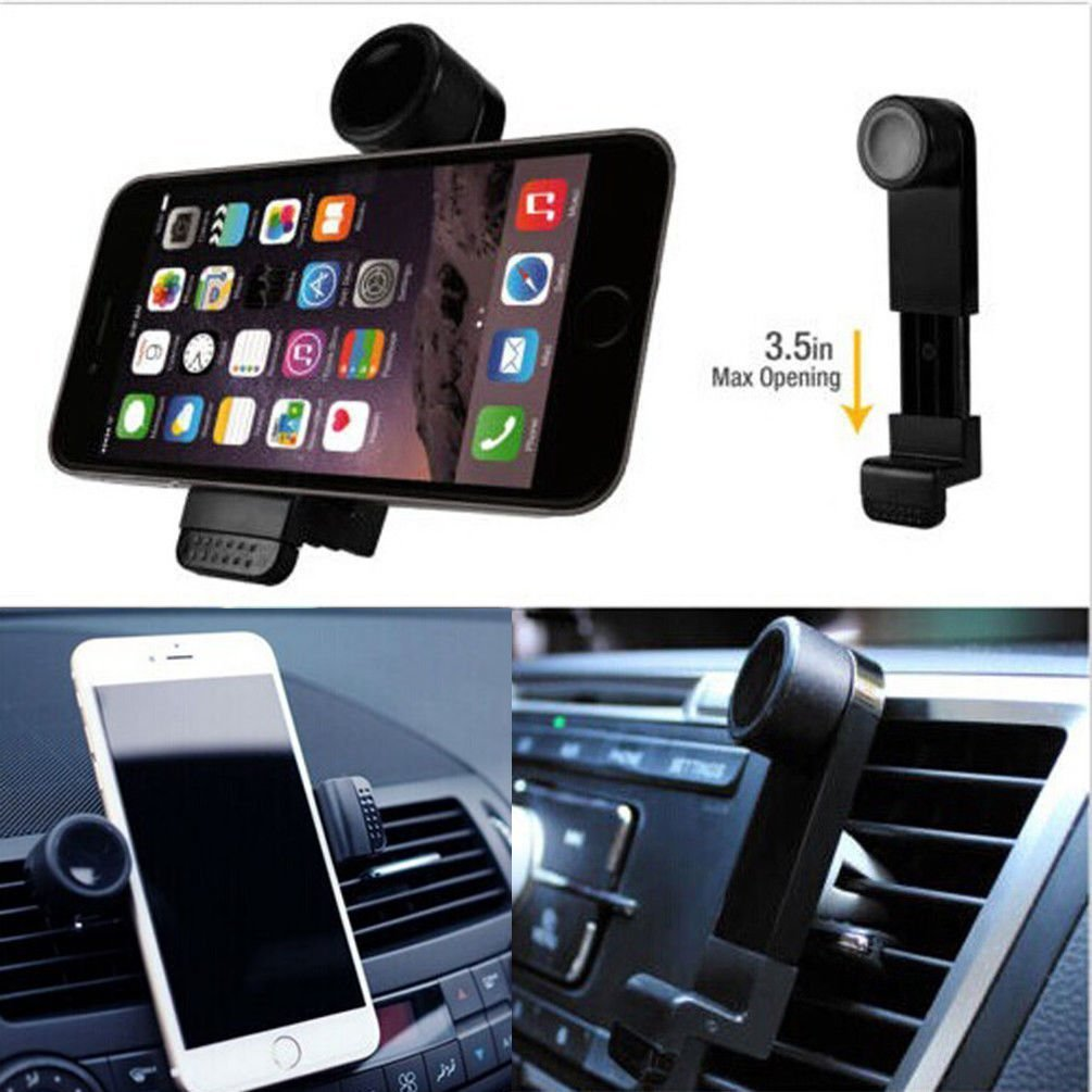 GPS Camera Lightweight iPhones Universal Air Vent Cellphone Mount Holder For Cars BLACK Extendable /& Durable Mobile Phone Kit For Smartphones 360/° Rotation Portable Music Players WE3DCELL