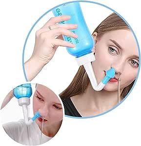 Set de ducha para nariz nariz Lavado Enjuague de la nariz – Tetera ...